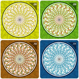 Colorful kaleidoscope. Vector. Abstract vector illustration depicting colorful floral kaleidoscope Stock Photo