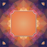 Colorful kaleidoscope vector background with label Royalty Free Stock Photos