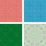Colorful kaleidoscopic triangle background set stock illustration