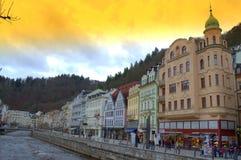 Colorful Karlovy Vary Stock Photo