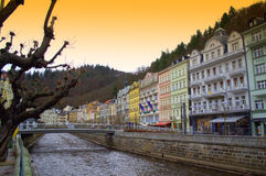 Colorful Karlovy Vary Royalty Free Stock Photos
