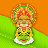 Colorful Kathakali Face Royalty Free Stock Image
