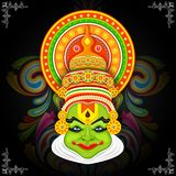 Colorful Kathakali Face Stock Photography