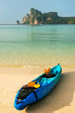 Colorful kayak at Ao Loh Dalum beach on Phi Phi Don Island, Krab Royalty Free Stock Photography