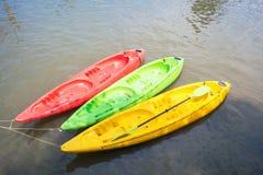 Colorful kayak on lake Royalty Free Stock Photography