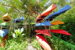 Colorful kayaking, adobe rgb Stock Photos