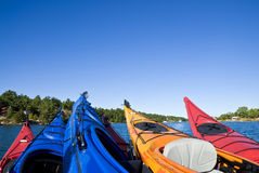 Colorful Kayaks Stock Photos