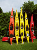 Colorful Kayaks Stock Image