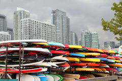 Colorful Kayaks Royalty Free Stock Photos