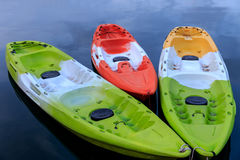 Colorful kayaks Royalty Free Stock Images