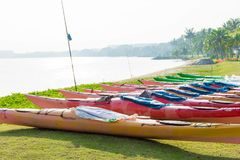 Colorful Kayaks for rent Stock Photos