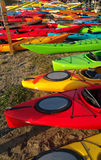 Colorful Kayaks on Shore Royalty Free Stock Image