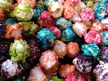 Colorful kettle corn Stock Photography