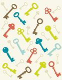 Colorful key background Stock Photo