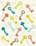 Colorful key background. Illustration Stock Photo