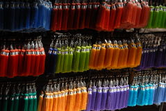 Colorful key fobs Stock Photography