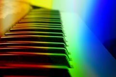 Colorful Keyboard Background Royalty Free Stock Image