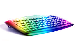 Colorful keyboard. Keyboard for pc shallow dof in rainbow color Royalty Free Illustration
