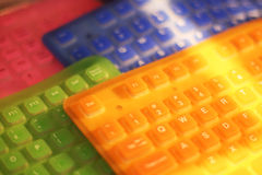 Colorful keyboards. Four soft colorfull keyboards together Royalty Free Stock Photos