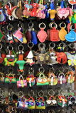Colorful keychains Stock Photography