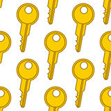 Colorful Keys Seamless Pattern Royalty Free Stock Image