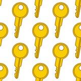Colorful Keys Seamless Pattern Royalty Free Stock Image
