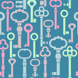 Colorful keys simple seamless pattern. Royalty Free Stock Photo
