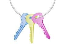 Colorful keys. On white background Royalty Free Stock Image