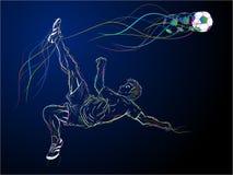 Colorful Kick Sketch Royalty Free Stock Image