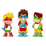 Colorful Kid Super Heroes Stock Images