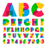 Colorful kids alphabet and numbers Stock Photos