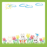 Colorful kids frame. Frame with happy and colorful kids - boys and girls royalty free illustration