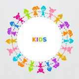 Colorful kids friends image Stock Images