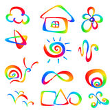 Colorful kids icon Royalty Free Stock Photos