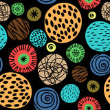 Colorful kids pattern with dots. For gift box cute paper and scrapbook texture. Vector illustration stock illustration