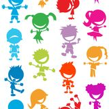 Colorful kids seamless pattern Royalty Free Stock Photo