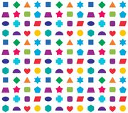 Colorful kids seamless pattern background. Color shapes for learning games Stock Image