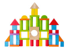 Colorful Kids Toy Castle Blocks Royalty Free Stock Photo