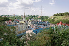 Colorful Kiev panorama Royalty Free Stock Photography