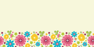 Colorful kimono flowers horizontal seamless Royalty Free Stock Photography