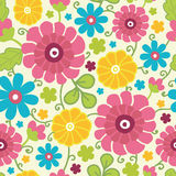 Colorful kimono flowers seamless pattern Stock Images