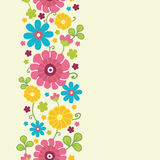 Colorful kimono flowers vertical seamless pattern Royalty Free Stock Photo