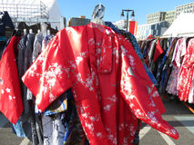 Colorful Kimonos for Sale Royalty Free Stock Photos