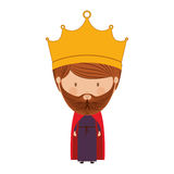 Colorful king with crown and beard Royalty Free Stock Photos