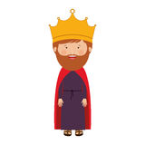 Colorful king with crown and beard Stock Photography