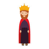 Colorful king with crown and beard Stock Images