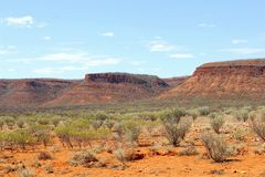 Kings Canyon tableland, Watarrka National Park, Australia Stock Images