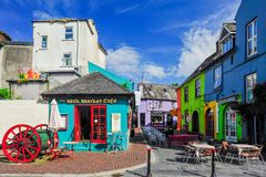 Colorful Kinsale. The shops and restaurants of downtown Kinsale, Ireland, on a quiet sunny morning Stock Photos