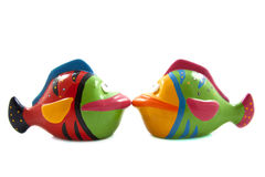 Colorful kissing fish Stock Image