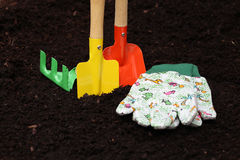 Colorful kit for gardening Stock Image